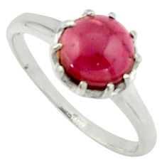 2.71cts solitaire natural red garnet 925 sterling silver ring size 7.5 r40553