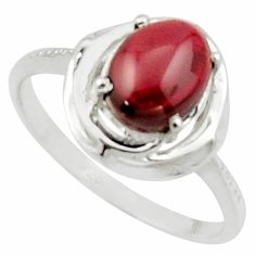 3.32cts solitaire natural red garnet 925 sterling silver ring size 8.5 r40621