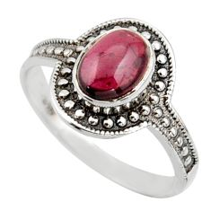 1.96cts solitaire natural red garnet 925 sterling silver ring size 7.5 r41921