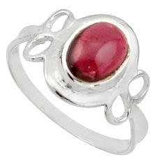2.60cts solitaire natural red garnet 925 sterling silver ring size 6 r40506
