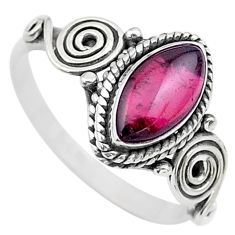 2.27cts solitaire natural red garnet 925 sterling silver ring size 6 t26241