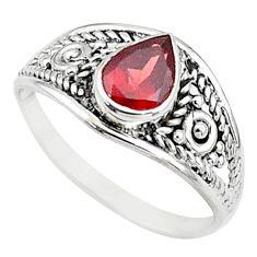 1.57cts natural cut garnet 925 silver graduation handmade ring size 6 t9445