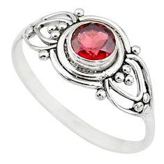 0.81cts natural cut garnet 925 silver graduation handmade ring size 6 t9614