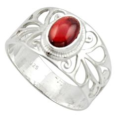 1.66cts solitaire natural red garnet 925 sterling silver ring size 7 r40825