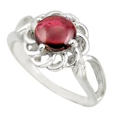 3.28cts solitaire natural red garnet 925 sterling silver ring size 7 r41908
