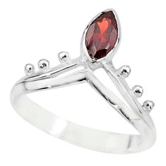 1.81cts solitaire natural red garnet 925 sterling silver ring size 7 t7534