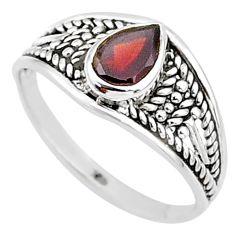 1.58cts natural cut garnet 925 silver graduation handmade ring size 7 t9565
