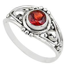 0.74cts natural cut garnet 925 silver graduation handmade ring size 7 t9691