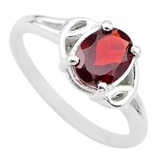 2.29cts solitaire natural red garnet 925 sterling silver ring size 8 t22288