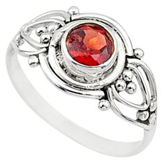 0.81cts natural cut garnet 925 silver graduation handmade ring size 8 t9612