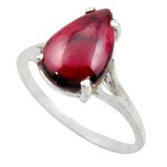 5.22cts solitaire natural red garnet 925 sterling silver ring size 9 r41911