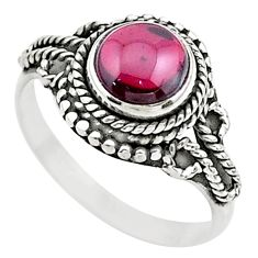 1.12cts solitaire natural red garnet 925 sterling silver ring size 6.5 t26162