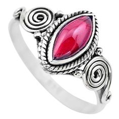 2.31cts solitaire natural red garnet 925 sterling silver ring size 9.5 t26221