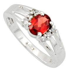 2.08cts solitaire natural red garnet topaz 925 silver ring size 8 r40788