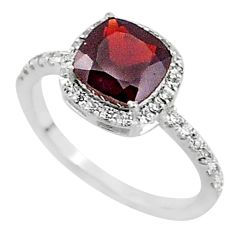 5.79cts solitaire natural red garnet topaz 925 sterling silver ring size 8 t7323