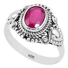 2.08cts solitaire natural red ruby 925 sterling silver ring jewelry size 7 t5311