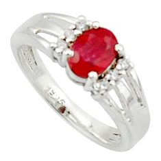 2.09cts solitaire natural red ruby topaz 925 sterling silver ring size 7 r40785
