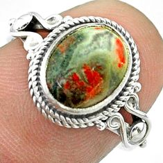 3.91cts solitaire natural red strawberry quartz 925 silver ring size 7 t57471