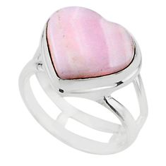 Solitaire natural scolecite high vibration crystal 925 silver ring size 6 t15594