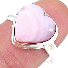 Solitaire natural scolecite high vibration crystal 925 silver ring size 8 t15618