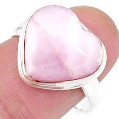 Solitaire natural scolecite high vibration crystal silver ring size 8.5 t15617