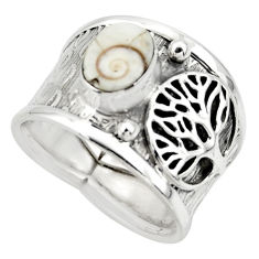 2.19cts solitaire natural shiva eye 925 silver tree of life ring size 8 r49882