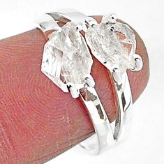5.68cts solitaire natural white herkimer diamond 925 silver ring size 7 t7005
