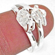 5.64cts solitaire natural white herkimer diamond 925 silver ring size 7 t7025