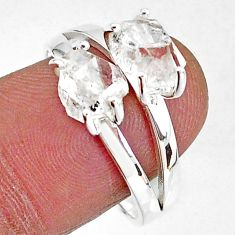5.96cts solitaire natural white herkimer diamond 925 silver ring size 9 t7022