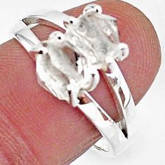 5.45cts solitaire natural white herkimer diamond fancy silver ring size 8 t7016