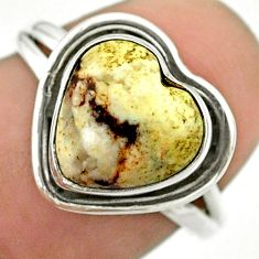 4.71cts solitaire natural wild horse magnesite 925 silver ring size 7 t41669