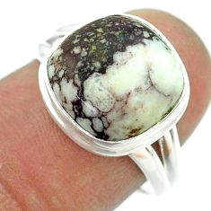 7.33cts solitaire natural wild horse magnesite 925 silver ring size 7 t55062