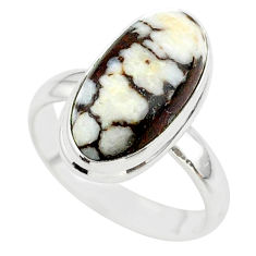 9.67cts solitaire natural wild horse magnesite 925 silver ring size 8 t38983