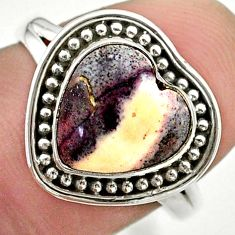 5.23cts solitaire natural wild horse magnesite 925 silver ring size 8 t41621