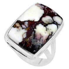 16.46cts solitaire natural wild horse magnesite 925 silver ring size 8.5 t10372