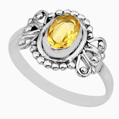 1.48cts solitaire natural yellow citrine 925 sterling silver ring size 7 r87263
