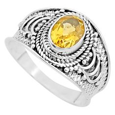 2.01cts solitaire natural yellow citrine 925 sterling silver ring size 9 t10103