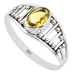 1.57cts natural yellow citrine 925 silver graduation handmade ring size 9 t9430