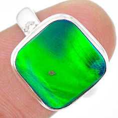 4.21cts solitaire northern lights aurora opal lab silver ring size 7 t24977