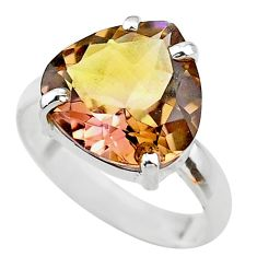 8.94cts solitire natural purple ametrine silver solitaire ring size 9.5 t24320