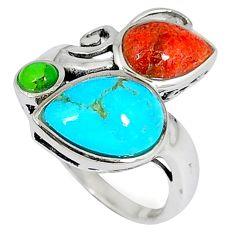 Southwestern arizona sleeping beauty turquoise 925 silver ring size 6 c10387