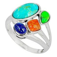 Southwestern arizona sleeping beauty turquoise 925 silver ring size 9 c10377