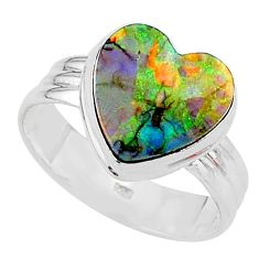 4.03cts sterling opal 925 sterling silver solitaire ring jewelry size 10 t13629