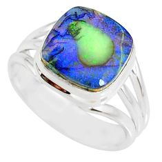 3.62cts sterling opal 925 sterling silver solitaire ring jewelry size 7 r76916