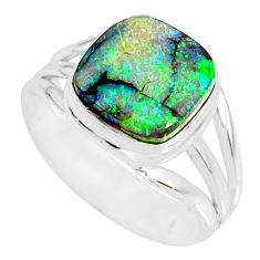 3.86cts sterling opal 925 sterling silver solitaire ring jewelry size 7 r76917