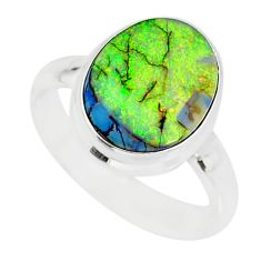 3.83cts sterling opal 925 sterling silver solitaire ring jewelry size 7 r84482