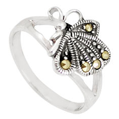 3.02gms swiss marcasite 925 sterling silver butterfly ring jewelry size 7 c25876