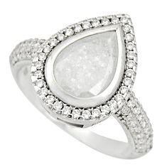 5.87cts white crack crystal topaz 925 sterling silver ring jewelry size 7 c9370