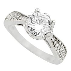 3.40cts white topaz 925 sterling silver ring jewelry size 8 c9369