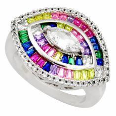 7.23cts white topaz quartz amethyst quartz 925 sterling silver ring size 7 c9187